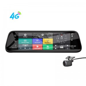 H913P  10 inch 4G Android Rearview Mirror Dash Cam Navigator