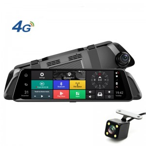 P2   Factory Private Model 10 inch 4G Android Rearview Mirror Driving Camera