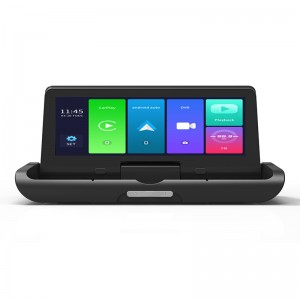 """7"""" 1080P Wireless apple CarPlay Android Auto parking monitor car DVR 4G/5G Global Network driving recorder dual lens dash cam"""