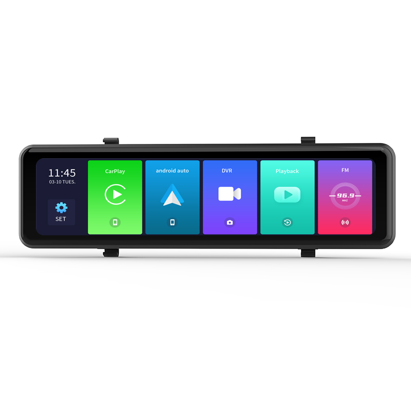 Factory hot sale 11Inch wireless Apple CarPlay Android Auto GPS Navigation rearview mirror DVR car black box Featured Image