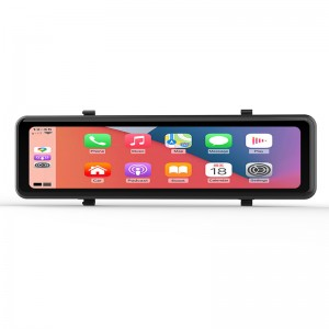 Factory hot sale 11Inch wireless Apple CarPlay Android Auto GPS Navigation rearview mirror DVR car black box