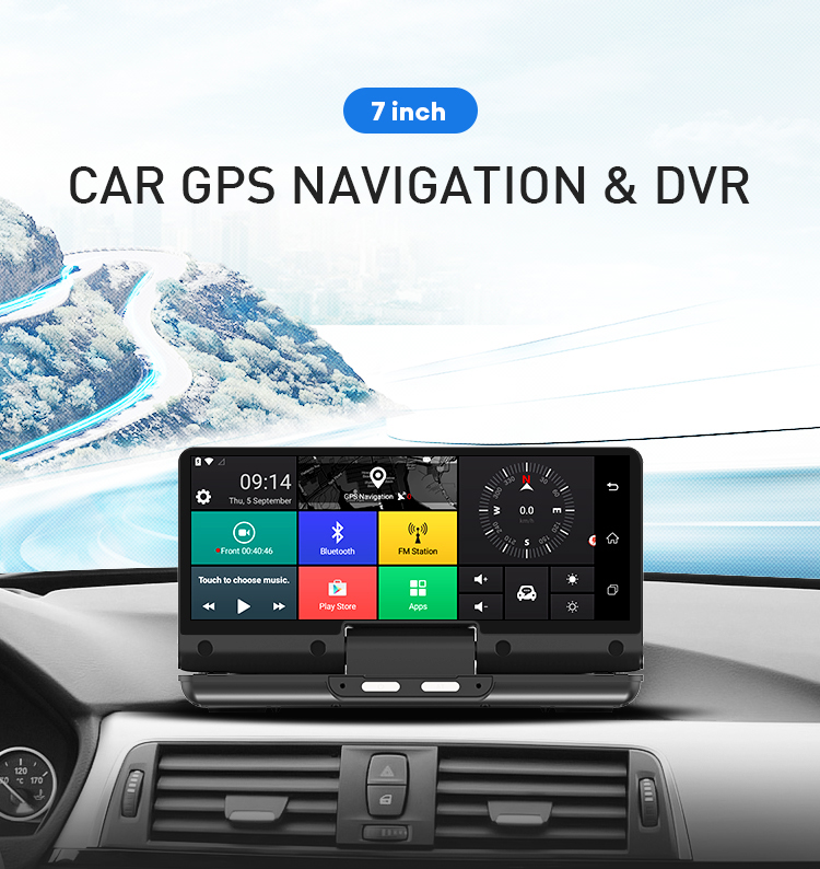 4G Android 5.1 Quad Core Center Console Car Dashboard Cam FHD 1080P 6.86 inch Touch Screen GPS NavigationDriving Recorder